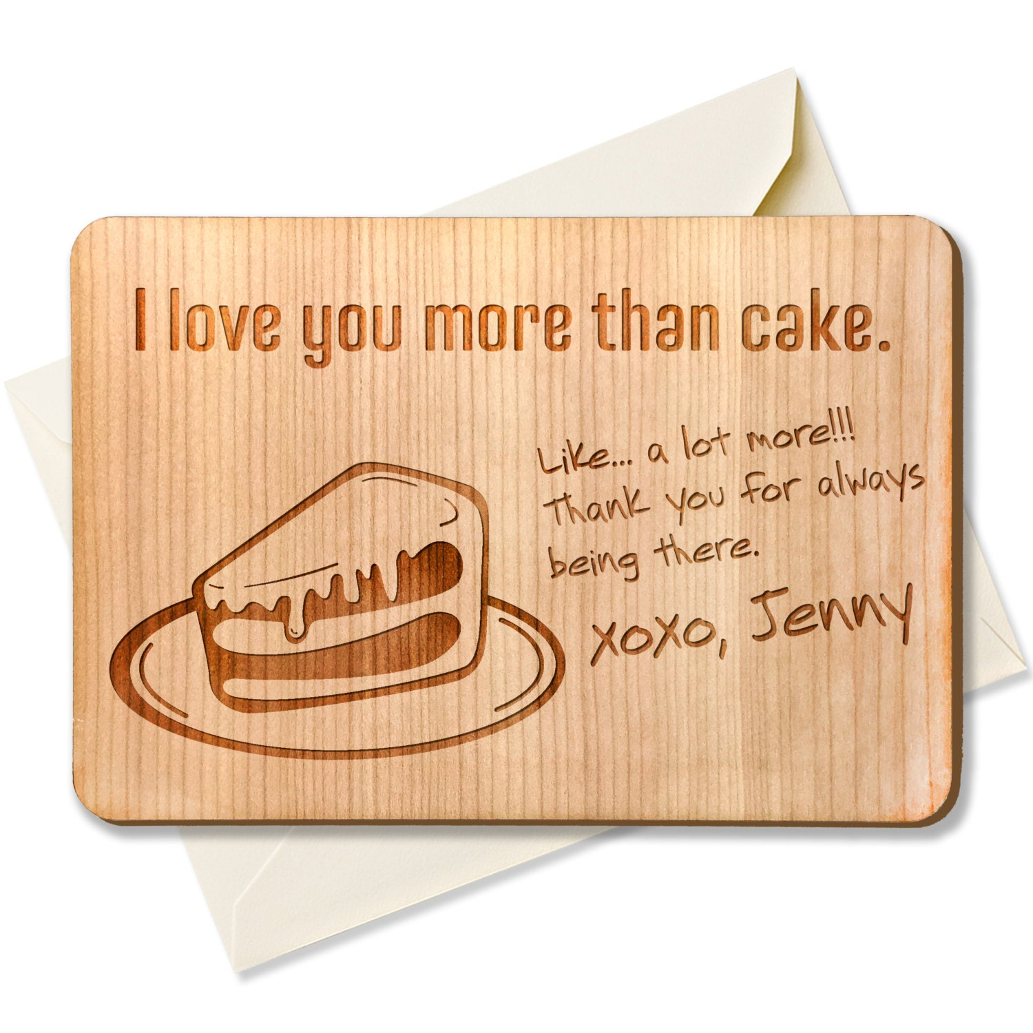 personalized birthday wood greeting card fridge magnet 4x6 love