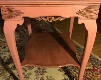 Vintage claw foot side table