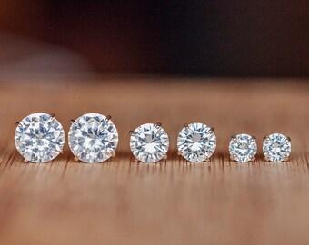 Crystal Stud Earrings, Crystal Earring Set, Cubic Zarconia Cyrstal, Silver, Gold, Crystal, Stud Earrings