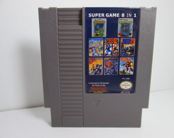 NES Super Game 8 in 1 multicart Mega Man 1-6, Castlevania I & II