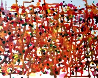 Labyrinth, Original abstract art painting