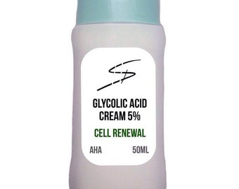 Glycolic Acid Cream 50ml Mild Exfoliation Peel Action FREE UK Postage!