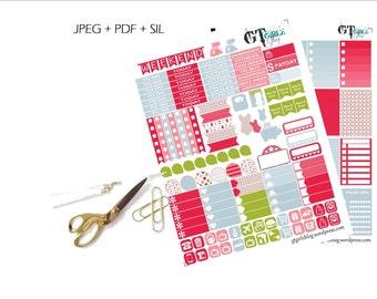 Summer Weekly Happy Planner Kit// Printable Planner Stickers
