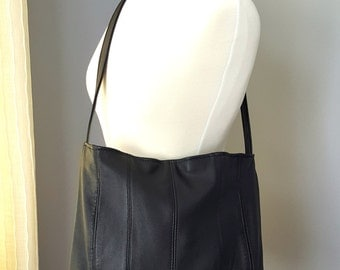 Black Upcycled Leather Bag