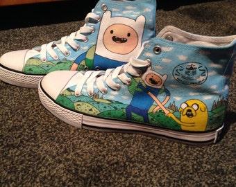 Adventure Time Custom Shoes