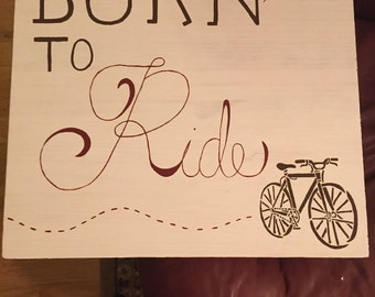 Wooden sign for bike lovers