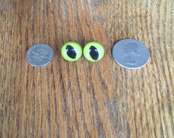 20 (10 Pair) of Vintage Plastic Cats Eyes for Stuffed Animals - Vintage Toys