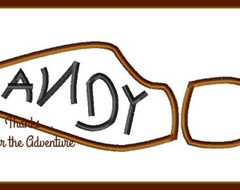 Toy Story Andy Sheriff Woody Boot Digital Embroidery Machine Applique Design File 4x4 5x7 6x10