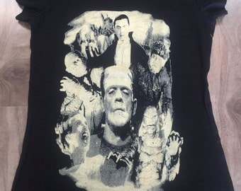 Bash Monsters Dracula Frankenstein The Mummy Bash Tee