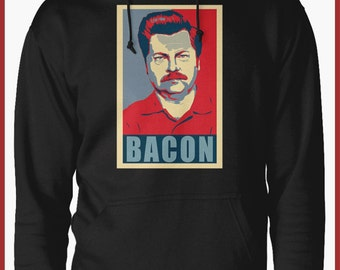 Parks and recreation Ron Swanson BACON Hoodie