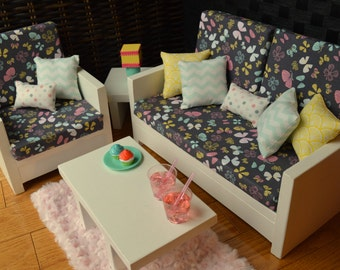"American Girl and other 18"" Doll Furniture. Living Rm - Elizabeth Set"
