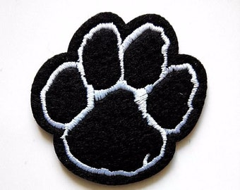 Bear Paws Animal Iron On Patch
