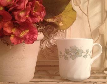 4 Corning Corelle Ivy Callaway Tea Cups, Mugs, Corelle pattern made by Corning, USA