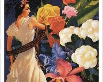 Vera Cruz Mexico Travel Poster 24x36 Dancer Exotic Flowers Latin Culture