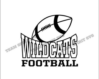 Wildcats Football Download Files - SVG, DXF, EPS, Silhouette Studio, Vinyl Cut Files, Digital Cut Files -Use with Cricut and Silhouette