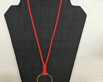 Paracord Ring necklaces