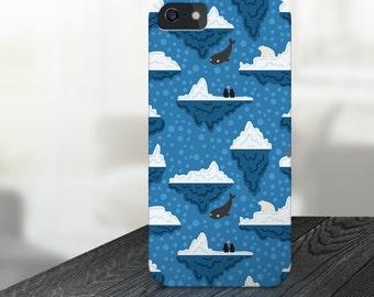 whale iphone case, ice iphone case, glacier iphone case, artic iphone case, clouds iphone case, whale iphone 5 case, whale iphone 6 case