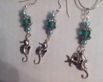 Seahorses,beach glass, beach