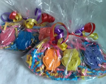 20 Bagged Recycled Crayon Party Favors - Owl Shaped Crayon - Boy or Girl Children Birthday Party Favor