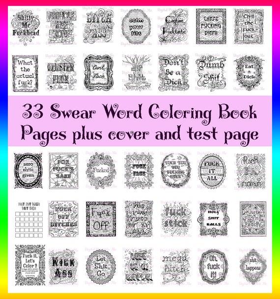 Swear Word Coloring Book Printable