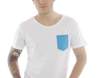 Bamboo Pocket Tee - Harbour Blue
