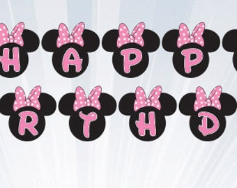 Minnie Banner - Instant Download