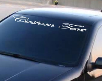 Windshield Banners Etsy - Car windshield decals custom