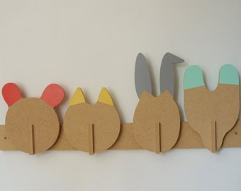 PEG animals - Leonard & co. - in kit - rack - bear - cat - rabbit - Fox