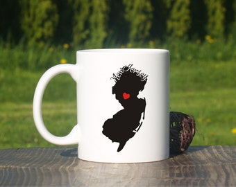 New Jersey mug-New Jersey coffee mug-Hometown-New Jersey state mug-Home state mug-New home gift-State mug-Adoption-University of New Jersey
