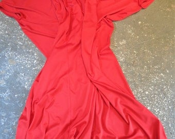 Vintage Dress - Red with Daisies Kaftan