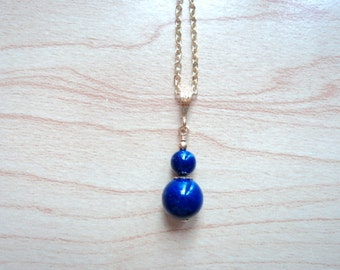 Lapis lazuli pendant. Vintage jewelry.
