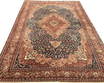 Floral Medallion Oriental Rug / Victorian Rug / Dining Room Rug / Living Room Rug / Area Rug 6 x 9 / Traditional Rug / Persian Rug