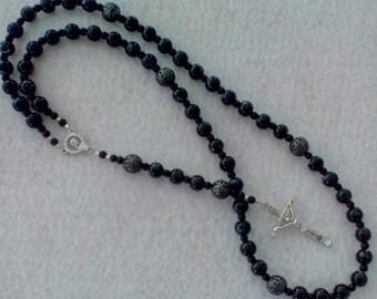 Basic Black Catholic Rosary