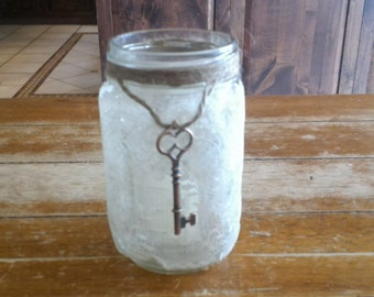 8oz Lace Mason Jar Votive Holder with Votive