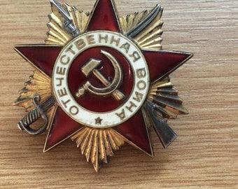 Soviet Russia Order of the Patriotic War (World War 2) 1st Class Type 3