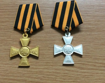 Russian Cross of St George Gold and Silver