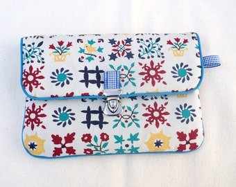 """Pouch coin purse / wallet with flap """"Spring"""""""