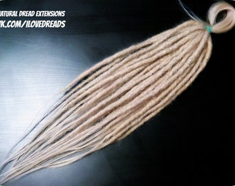 Human hair Dread extensions, 20 dreads, any color!