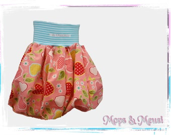 Balloon pump skirt pink colored apples 92/98