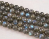 Natural Smooth Labradorite Gemstone Round Loose Beads. Size 4mm/6mm/8mm/9mm/10mm/12mm 15.5''Long Per Strand .R-S-LAB-0166