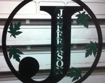 metal art family initials