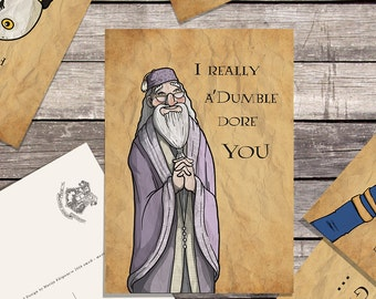 Harry Potter DUMBLEDORE valentines postcards
