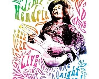 Jimi Hendrix Live Neon Tee-Shirt
