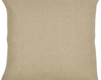 Beige Jute on Silk Cushion cover on