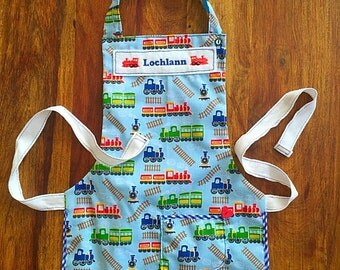 Personalised kid apron, children's apron, personalised apron gift, funky cooking apron UK seller