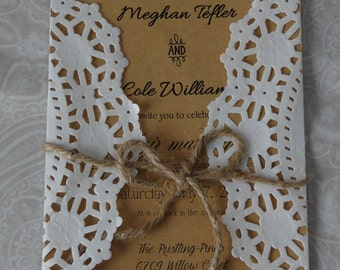 50 Rustic Wedding Invites
