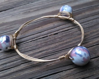 Pink and Purple Watercolor Bangle