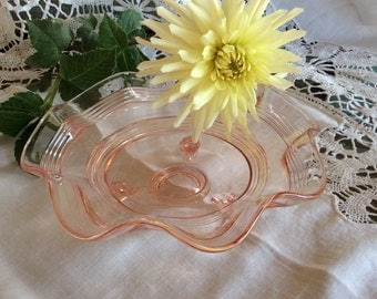 Fenton Rose Bowl Etsy