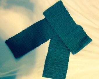 Crochet Scarf - Grey (Pewter)