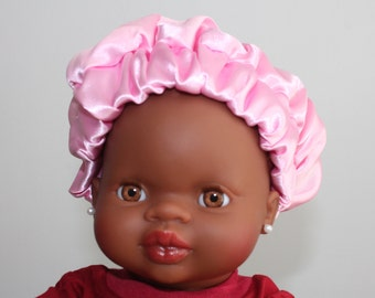 Satin bonnet baby cap